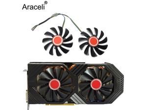 2pcs/set95MM FDC10U12S9-C CF1010U12S CF9010H12S XFX RX580 GPU Cooler Fan For HIS RX 590 580 570 Graphics Card Cooling