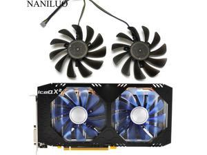 2PCS/lot 95MM FDC10U12S9-C CF1010U12S Replace For HIS AMD Radeon RX 580 590 RX580 RX590 IceQX2 Turbo Graphics Card Cooling Fan