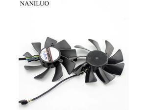 85MM FD9015U12S 4Pin DC 12V Cooling Fan Replacement For XFX HD7950 HD 7970 7950 Dual-X Graphics Video Card Cooler Fan