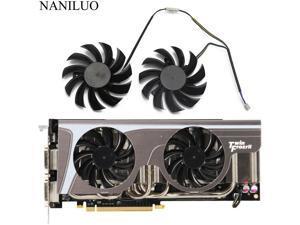 2PCS/lot  75MM PLD08010S12HH 0.35A Cooler Fan ForMSI GeForce GTX 580/570/560/560Ti/480/465/460 GTX770 Video Card Cooling Fan