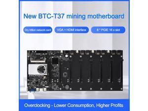 BTC-37 Miner Motherboard Set Of 8 Video Card Slots DDR3 Memory Onboard VGA Interface Low Power Consumption