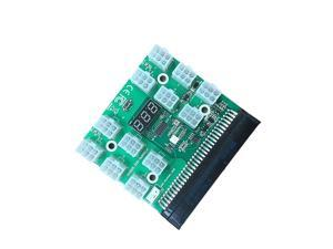 PCI-E 12V 64Pin to 12x 6Pin Power Supply Server Adapter Breakout Board for HP 1200W 750W PSU Server GPU BTC Mining