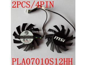 2pcs/lot  MSI R5770 6770  N450GTS HAWK graphics card  fan PLA07010S12HH 65mm 12V 0.5A