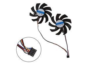 2pcs/set  CF9010H12S RX 480/470 VGA GPU Cooler Graphics Fan For XFX R9 390X/390 8G RX480 RX470 Video Card Cooling  4-pin HEAT