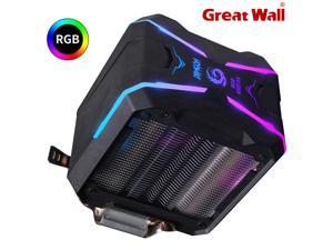Great Wall G400 RGB CPU Cooler Fan 92mm 4PIN 4 Heatpipes Computer Air Cooling Radiator for Intel LGA 1150 1151 1155 1156 LGA775, White