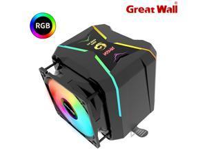 Great Wall G400 RGB CPU Cooler Fan 92mm Dual Fan 4 Heat Pipes Air Cooling Radiator for Intel LGA 1150 1151 1155 1156 LGA 775 1200 Socket AMD AM4 AM3 FM2, Only Edition