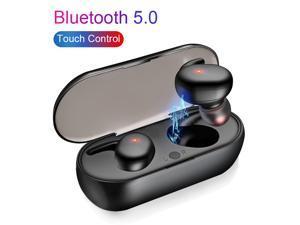 Bluetooth 5.0 Headset Digital Intelligent Power LED Display Wireless Sports Mini Stereo In-ear Touch Headphones
