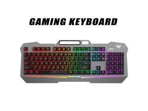 AULA F3010 Mechanical Keyboard Mobile Phone Holder Mutliple Background Light USB Wired Gaming Keyboard