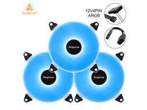 Segotep Romantic 12 Case Cooling Fan 12V 4Pin ARGB Motherboard Synchronization 120mm Silent PC Cooler Fan