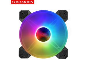Coolmoon Yuhuan 120 Case Fan RGB LED Fan 120mm Small 6 Pin Silent PC Cooling Fan Need to Match the Controller