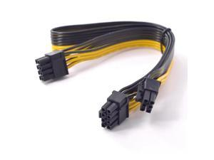 PCIe 6Pin to 2 port 8pin Power supply Cable PCI express Graphics Card Dual 6+2 pin male to 6 Pin Extension Cord Mining Machine
