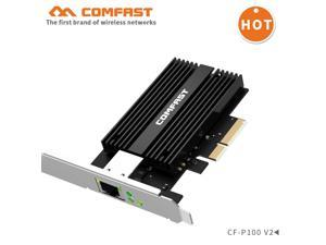 CF-P100 V2 10Gb PCI-E Network Card AQC107 Chipset 2.5G/5G/10G PCIE-X4 Network adapter Fast Transmission Dongle for windows Linux