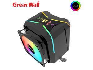 Great Wall CPU Cooler RGB 4 Pipe 90mm Dual Fan Radiator for Intel LGA 1150 1151 1155 1156 2011 2066 AMD AM4 AM3 FM2 CPU Cooling