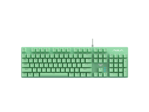 AULA S2022 Wired Mechanical Gaming Keyboard with 104 Keys Adoption of 26 Keys without Impact Design USB interface Mechanical Keyboard for WIN XP WIN7 WIN8 WIN10 System