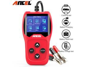 Ancel BA201 Battery Tester 12V Auto Battery Analyzer 100 To 2000CCA Quick Car Tester Digital Cranking Test Charging Car Battery Diagnostic Tool, Red