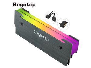 Segotep Light Chaser X2 Memory Cooling Vest Double light path RGB Heatsink Aluminum Alloy Memory cooler for Desktop