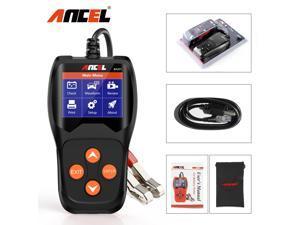 Ancel BA201 Battery Tester 100 to 2000CCA Automotive Battery Analyzer Digital Cranking Test Tool, Black