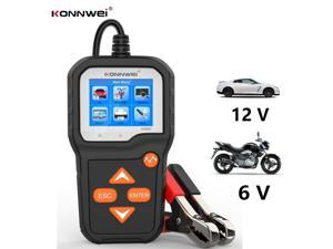 Konnwei KW650 6V 12 Volt Motorcycle & Car Battery Tester Machine Analyzer 100 to 2000 CCA Cranking Charging Test Tools