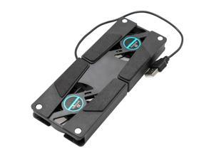 Laptop Stand with Dual Cooling Fan Foldable USB Stand External Cooling Radiator Cooling Pad, Black