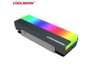 Coolmoon CM-M7S Heatsink 5V 3Pin ARGB Solid State Drive Hard Disk Cooling Radiator M.2 2280 SSD Hard Drive Heat Sink