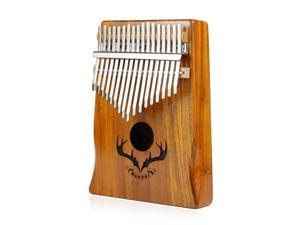 Muspor Kalimba 17 Keys Acacia Thumb Piano Mbira and Performance Protection Bag, Professional Models
