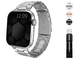 Compatible with apple Watch 38mm 40mm 42mm 44mm band, suitable for iWatch 6/SE/5/4/3/2/1 series, metal stainless steel strap with replaceable bracelet for men/women