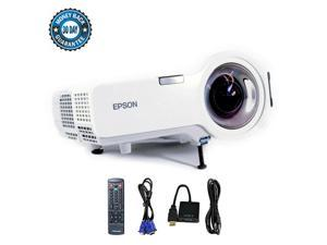 Epson PowerLite 410W H330A 3LCD Projector HDMI-adapter Short-Throw  HD 1080 2000 ANSI Lumens 1280 x 800 Home Theater Professional Streaming with Accessories bundle