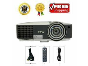 Short-Throw BenQ MX816ST DLP Projector 3000 ANSI Lumens 3D HDMI HD 1024 x 768 1080p Home Theater Professional Streaming with Accessories bundle