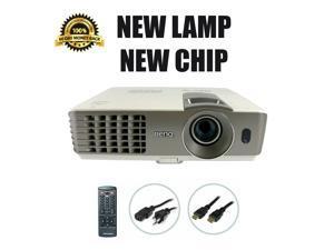 BenQ MX720 DLP Projector 3500 ANSI HDMI 3D NEW Lamp - NEW Chip HD 1080p bundle