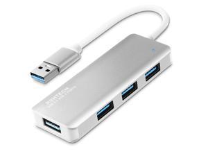 USB Hub 3.0, RSHTECH 4 Port USB 3.0 Ultra Slim Aluminum Data Hub USB Port Expander Portable USB Splitter (Black)