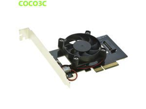 M Key M.2 SSD Adapter for SAMSUNG 950 PRO SM951 NGFF PCI express SSD slot to Desktop PCIe 4x Card with Fan Coolling
