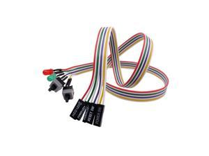 Computer ATX Motherboard Power Cable PC Power Reset Switch Push Button Switch 2 On Off Reset Switch with 2 LED indicator Light
