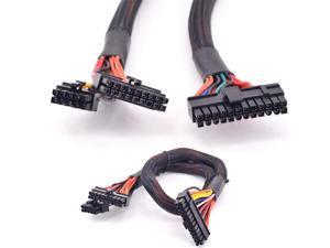 18+10Pin to 24 Pin ATX 20+4 Pin Motherboard Flat Power Supply Cable for Corsair AX Series AX860 AX760 PSU Modular