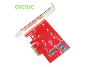 2 in 1 PCI-e 4x to M Key NGFF SSD Card for SAMSUNG 950 PRO M.2 SSD Desktop SATA 6Gb/s to B Key M.2 SATA interface SSD adapter