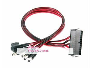 Motherboard ATX/EPS 24Pin to 12V  DC 5.5*2.5mm Adapter Cable 50cm Power Supply Jumper Start On/Off Switch