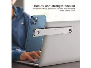 1pc est Multi Screen Support Laptop Side Mount Connects Mobile Phone Bracket Monitor Clip Stretching Phone Stand Holder Alloy