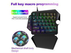 Mechanical Keyboard 35 keys Blue Switch Gaming Keyboard Macro Programming RGB Backlight Wired teclado for PC Gamer Nintendo