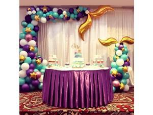 1 set Mermaid Balloons Set Metal latex aluminum Tail Balloon Little Mermaid Party Decorations Supplies Girl Birthday Party Decor