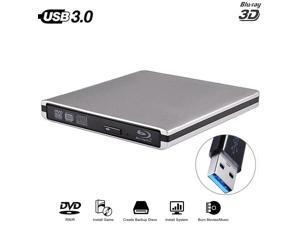 Aluminium Drive Slim Bluray Burner BD-RE CD/ RW Writer Play Disc  iMa Laptop PC WinXP/7/8/10