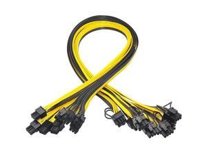 PCI-e 6 Pin To 8 Pin (6 + 2) GPU Power Cable 18AWG 50cm Graphics Cards Mining Server Board PSU Breakout PCIe 6Pin to 8Pin Cable