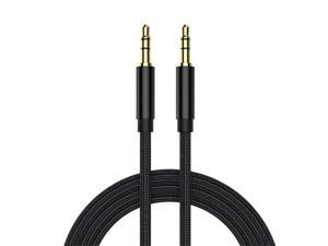 3.5mm Nylon Braided Aux Cable Hi-Fi Sound Audio Auxiliary Input Adapter Male to Male AUX Cord for Headphones Car Stereos Speaker