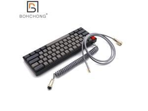 SK61 mechanical keyboard & USB Coiled Cable NKRO Gateron optical switch 60% Wired Gaming hot swapping socket rgb leds type-c pcb