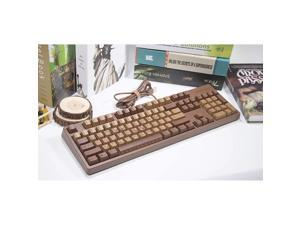EPOMAKER  Chocolate Cubes 104 Keys Mechanical Keyboard with Cherry MX Switch, Thermal Sublimation Printing PBT Keycaps for