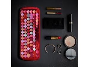SeenDa Bluetooth Mini Lipstick Mechanical Keyboard 84-Key Retro Round Keycaps Wireless Bluetooth Keyboard Tablet Phone Keyboard
