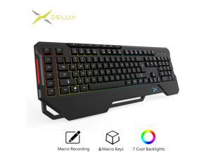 K9600 RGB Backlight Gaming Keyboard 104 + 13 Keycaps Russian / Enlgish Layout Keypads with Palm Rest for Windows Gamer