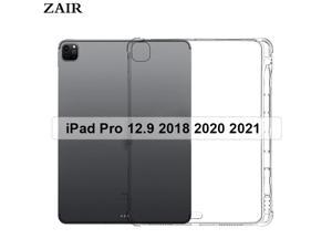 Clear Case for Apple iPad Pro 12.9 2018 2020 2021 case With Pencil Holder Anti-fall soft TPU silicone Soft tablet cover Shell
