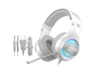 Q9 Gaming Headset with Microphone,Gaming Headset for PS5 PS4 with 7.1 Surround Sound & RGB LED Light,Headset Noise Canceling Mic Compatible with Playstation 5/4/3 PC/Mac/Nintendo Switch