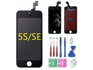 for iPhone 5s/5SE Screen Replacement Black (4.0), LCD Display &Touch Screen Digitizer Frame Assembly Full Set with Free Tools Kit for iPhone 5S Black