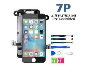 for iPhone 7 Plus Screen Replacement White, LCD Display with 3D Touch Screen Digitizer Frame Assembly with Proximity Sensor+Earpiece+Front Camera+ Repair Tool (5.5'')