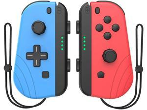 GCHT GAMING Switch Controller Compatible with Nintendo Switch Joycon Left and Right Controllers with Straps Support Wake Up Function